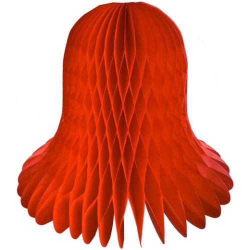 Колокол Бумажный 20 см красный