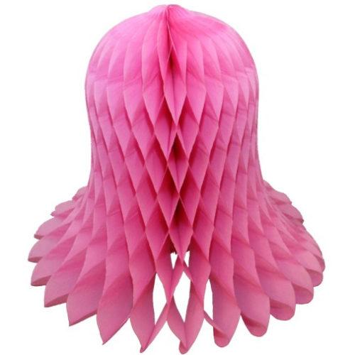 Колокол Бумажный 20 см розовый