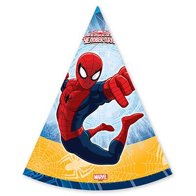 Колпаки Marvel Человек-Паук 6 штук