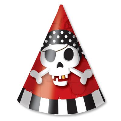 Колпак Пираты 6 шт