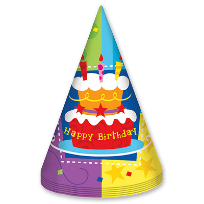 Колпак Торт Birthday 6 шт