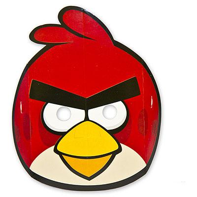 Маски бумажные Angry Birds 8 штук
