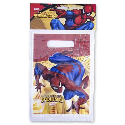 Пакеты для сувениров 16х22 см Человек Паук 8 шт