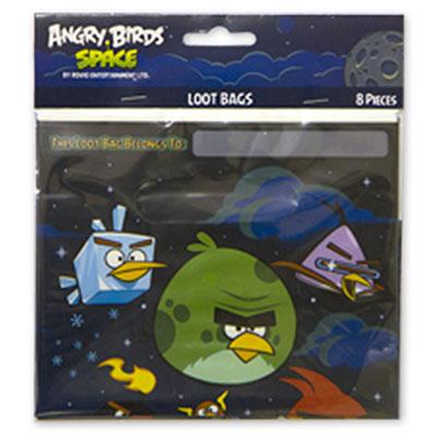 Пакеты для сувениров 16х22 см Angry Birds 8 штук