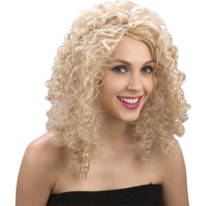 Парик Блондинка кудрявые волосы