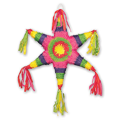 Пиньята 48 см Звезда с лентами