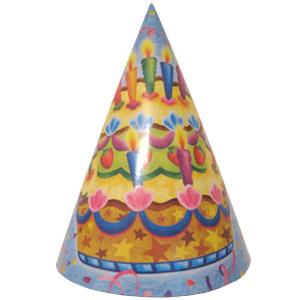 Праздничные колпачки Праздничный торт 6 штук