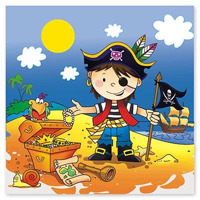Салфетки Маленький пират 12 штук