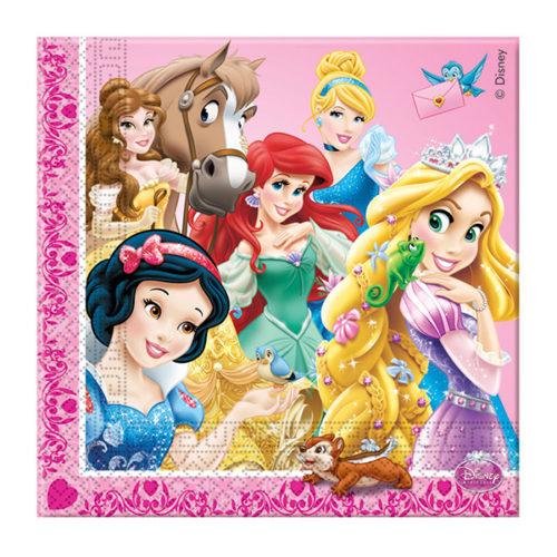 Салфетки 33см X 33см Принцессы и животные 16 штук