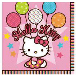 Салфетки 33см X 33см Hello Kitty 16 штук