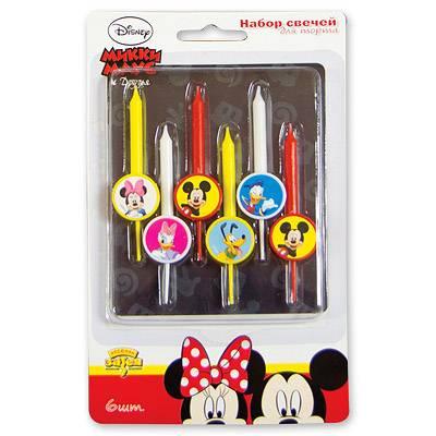 Свечи для торта Disney Микки и друзья 6 шт