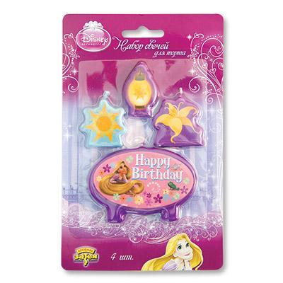 Свечи для торта Disney Рапунцель 4шт
