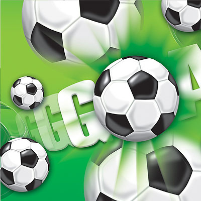 Скатерть Футбол зеленый, 1,2х1,8м