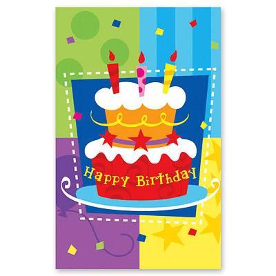 Скатерть п-э Торт Birthday 140х180 см