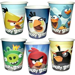 Стаканы бумажные 250 мл Angry Birds 6 штук