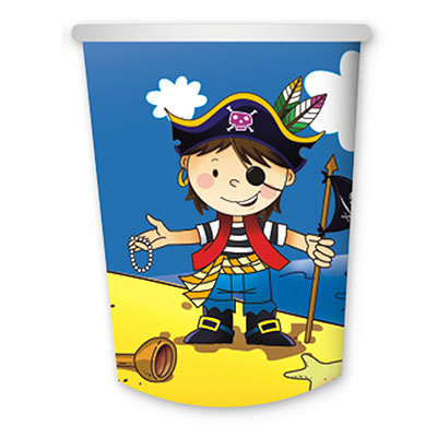 Стакан бумажный 250 мл Маленький пират 6 шт