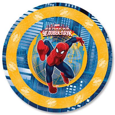 Тарелка бумажная 23 см Человек-Паук 6 шт