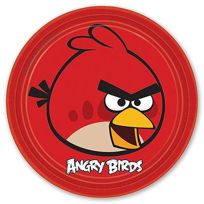 Тарелка бумажная 23 см Angry Birds 8 шт