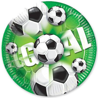 Тарелки 23 см Футбол зеленый 10 шт