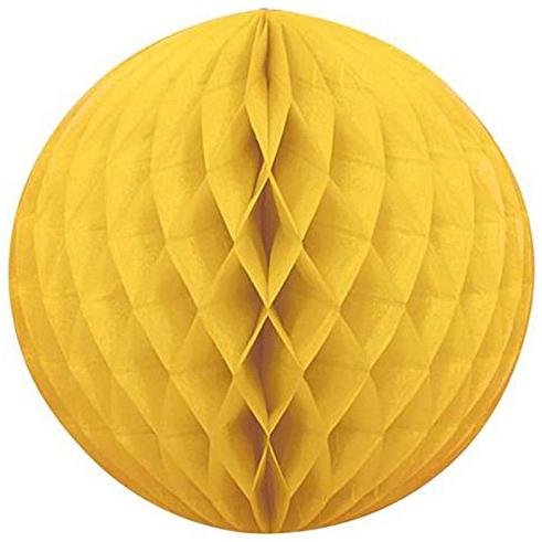 Шар Бумажный 20 см желтый