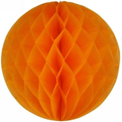 Шар Бумажный 25 см оранжевый