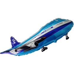 Шар 36 см Самолет синий