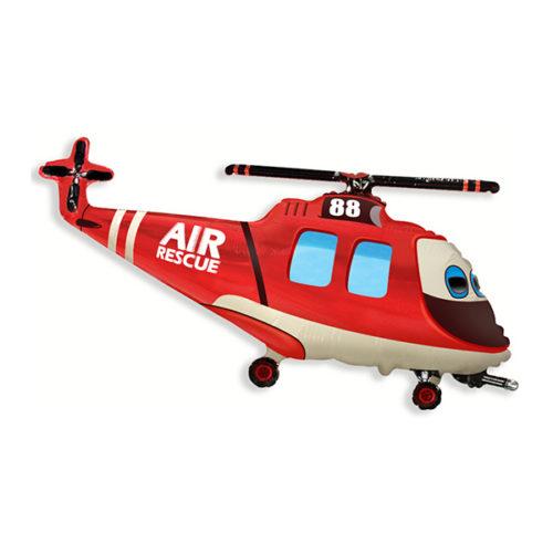 Шар 36 см Мини-фигура Вертолет-Спасатель