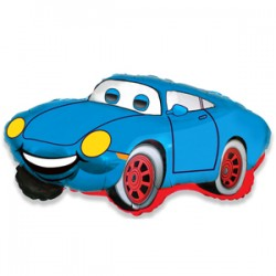 Шар 36 см Мини-фигура Гоночная машина Синий