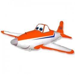 Шар 36 см Мини-фигура Гоночный самолет Оранжевый