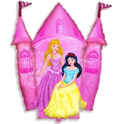 Шар 36 см Мини-фигура Замок принцессы Розовый