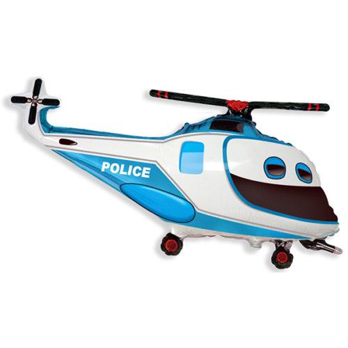 Шар 36 см Мини-фигура Полицейский вертолет