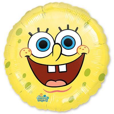 Шар 46 см Круг Губка Боб улыбка