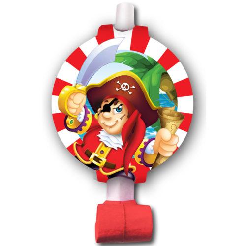 Язычки-гудки с карточкой Веселый Пират 6 шт