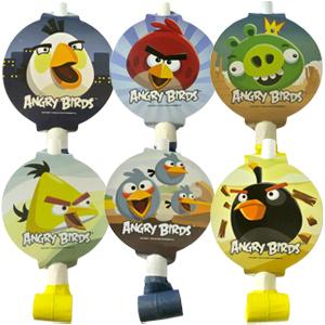 Язычки-гудки с карточкой Angry Birds 6 штук