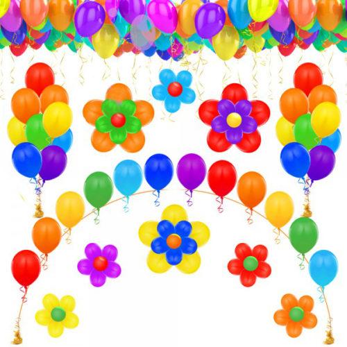 Оформление детского сада шарами комплект Радость
