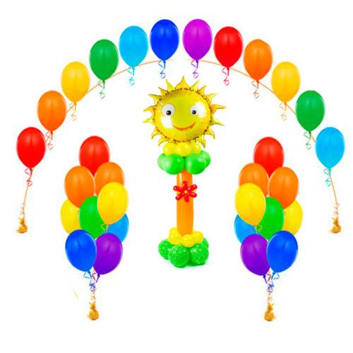 Оформление детского сада шарами комплект Яркий с солнышком