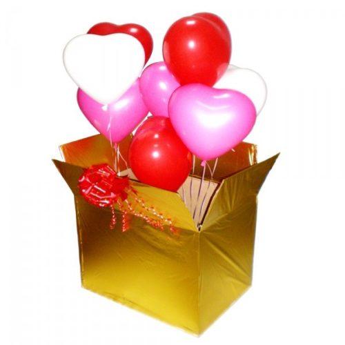 Коробка сюрприз со связкой сердец