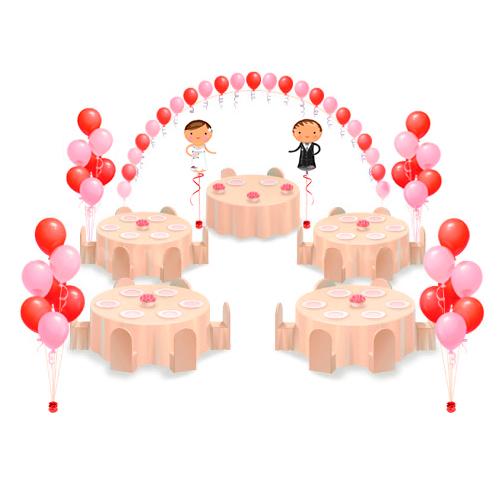 Оформление свадьбы шарами С Женихом и Невестой