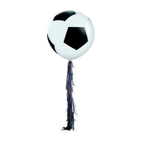 Большой шар 90 см Футбольный мяч с гирляндой тассел