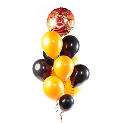 Связка ко Дню Победы из воздушных шаров