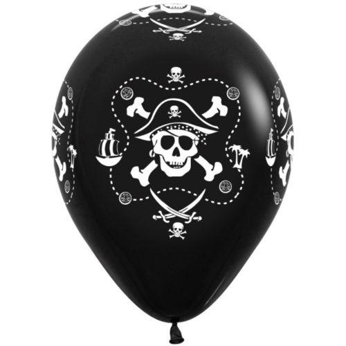 Шар 30 см Пираты Черный Пастель