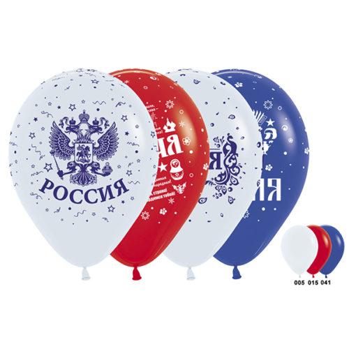 Шар 30 см Россия 4 дизайна Ассорти Пастель