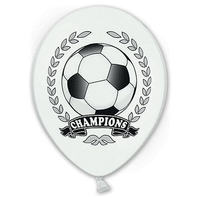 Шар 30 см Футбол Чемпион Пастель