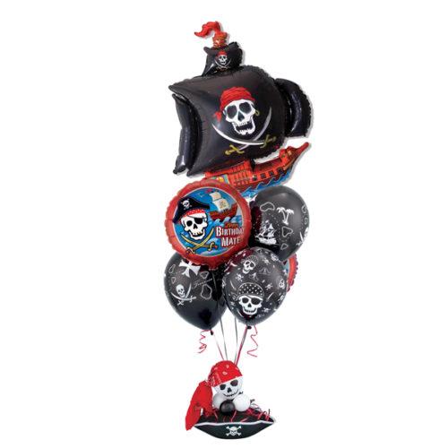 Связка шаров с пиратским кораблем на День рождения