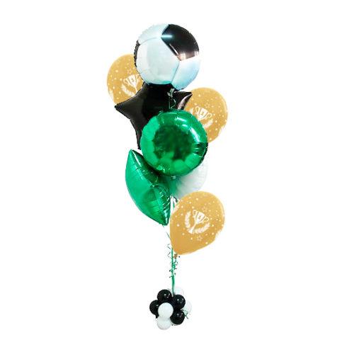 Фонтан из шаров для успешного любителя футбола
