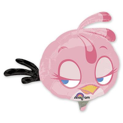Шар 35 см Мини-фигура Angry Birds Розовая Птица