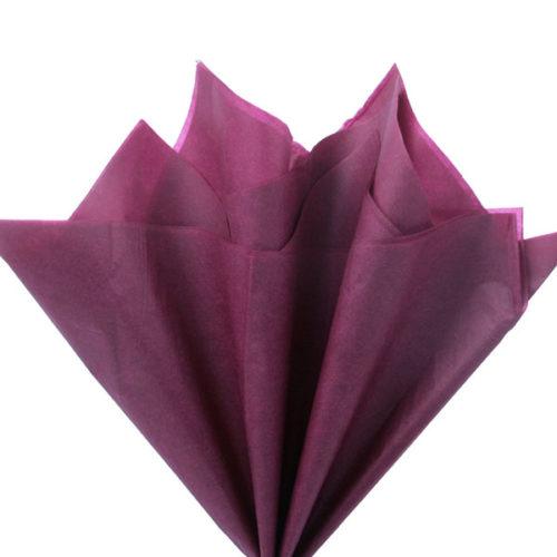 Бумага тишью 76 х 50 см бордовая 10 листов