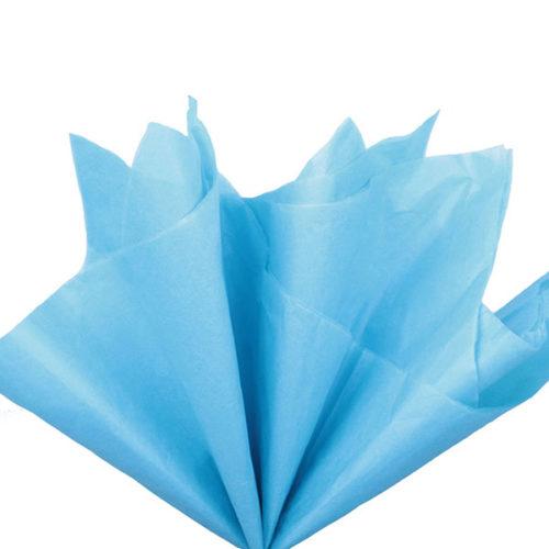 Бумага тишью 76 х 50 см синяя 10 листов