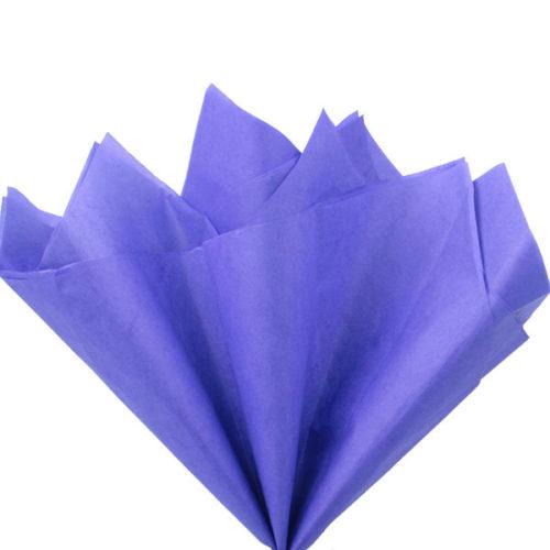 Бумага тишью 76 х 50 см сиреневая 10 листов