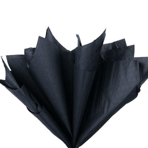 Бумага тишью 76 х 50 см черная 10 листов